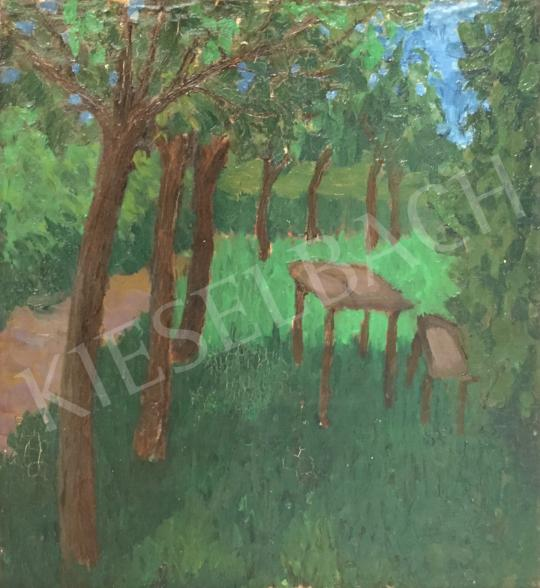 Eladó  Fischer Edwin Ödön - Kertben festménye