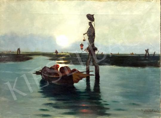 Eladó  Frantisek Antonín Jelínek - Velencei lagúna festménye