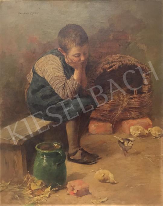 Peske Géza - Kisfiú festménye