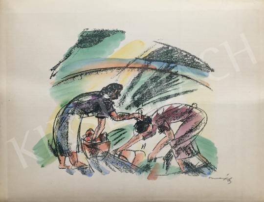 Eladó  Márffy Ödön - Nők munka közben festménye