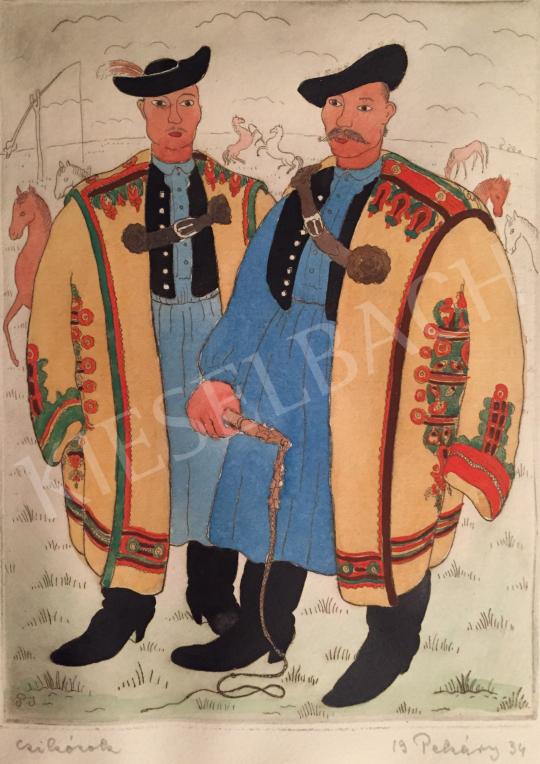 Eladó Pekáry István - Csikósok, 1934 festménye