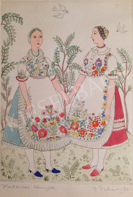 Pekáry István - Kalocsai lányok, 1934