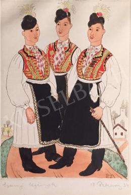 Pekáry István - Legények, 1934