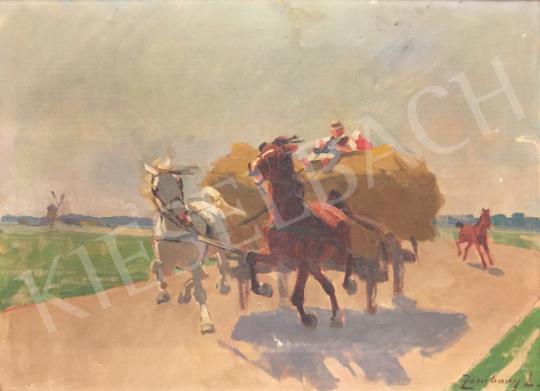 Eladó Zombory Lajos - Vágtató lovasfogat festménye