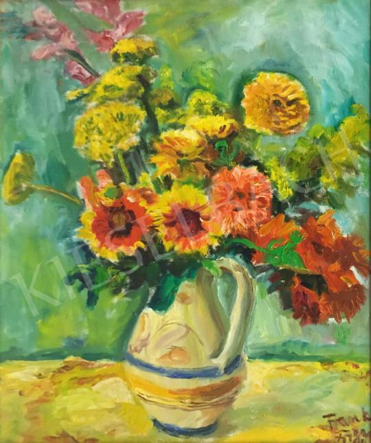 Frank Frigyes - Virágcsendélet festménye