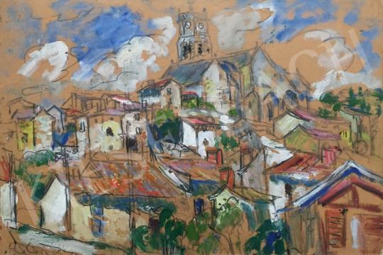 Bertalan Albert - Városkép festménye