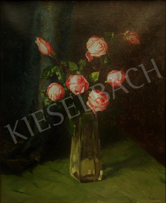 Eladó  Nyilasy Sándor - Csendélet rózsákkal festménye