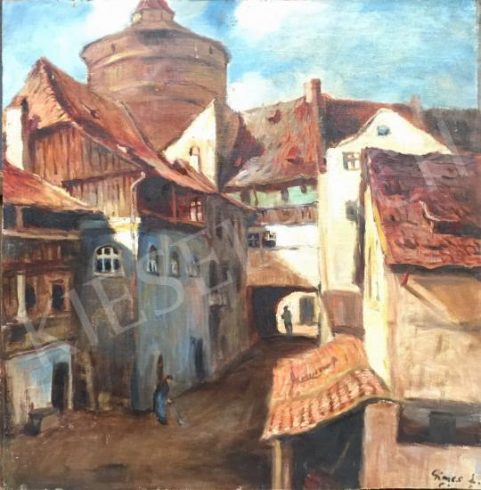For sale Gimes, Lajos - Street Scene 's painting