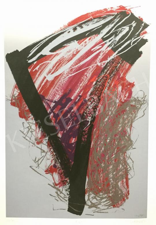 Nádler István - Kalligráfia/ átlós/ utolsó, 1987 festménye
