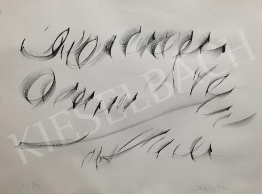 For sale  Nádler, István - Calligraphy, 1982 's painting