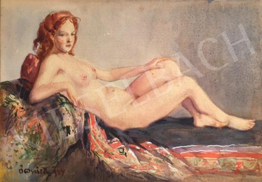 For sale Ocsvár, Rezső - Lying Female Nude, 1934 's painting