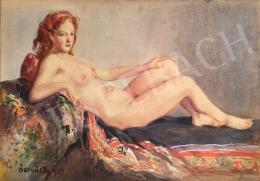 Ócsvár Rezső - Fekvő női akt, 1934