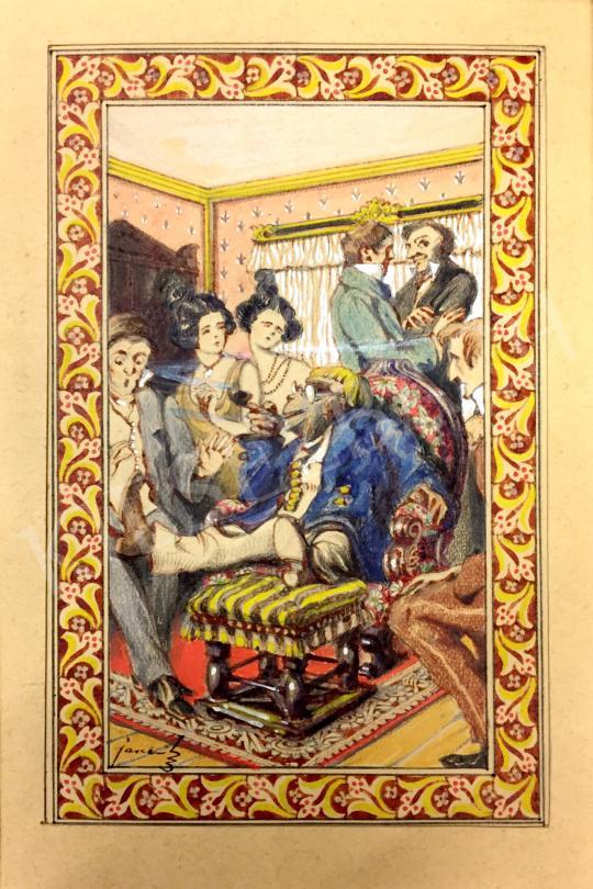 Jaschik Álmos - Meseillusztráció Wilhelm Hauff könyvéhez festménye