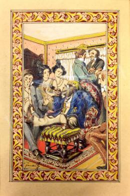Jaschik Álmos - Meseillusztráció Wilhelm Hauff könyvéhez