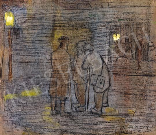 Gulácsy Lajos - Kávéház előtt Na'Conxypanban | 57. Téli Aukció aukció / 16 tétel