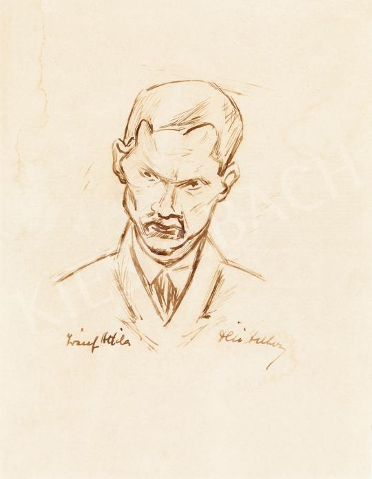 Dési Huber István - József Attila portréja   57. Téli Aukció aukció / 17 tétel