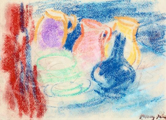 Vaszary János - Frissítők a tengerparti kávézó asztalán (San Remo) | 57. Téli Aukció aukció / 19 tétel