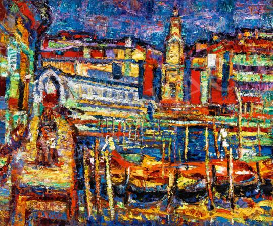 Vén Emil - A Canal Grande a Rialto-híddal | 57. Téli Aukció aukció / 24 tétel