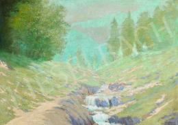 Szepesi Kuszka, Jenő - Brook in Spring, 1913