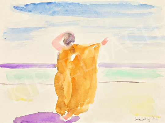 Vaszary János - San Remo-i tengerparton (Tengeri szellő) | 57. Téli Aukció aukció / 27 tétel