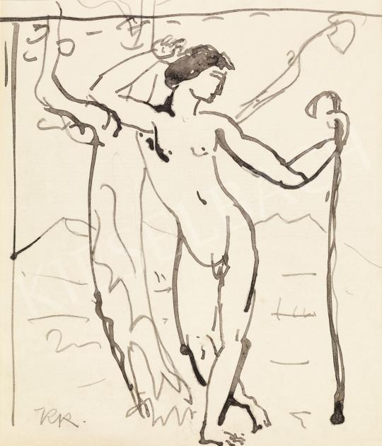 Kernstok Károly - Ifjú (Keresztelő Szent János), 1910 körül | 57. Téli Aukció aukció / 35 tétel