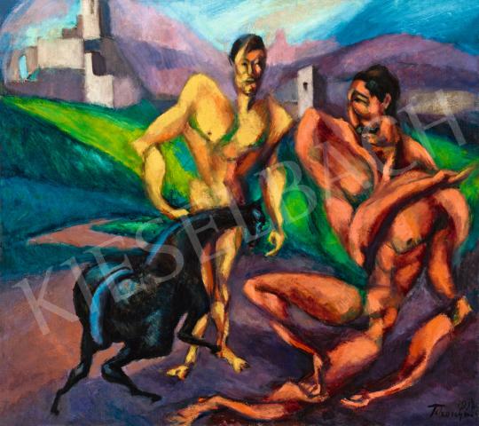 Tihanyi Lajos - Falusi kentaur, 1912   57. Téli Aukció aukció / 37 tétel