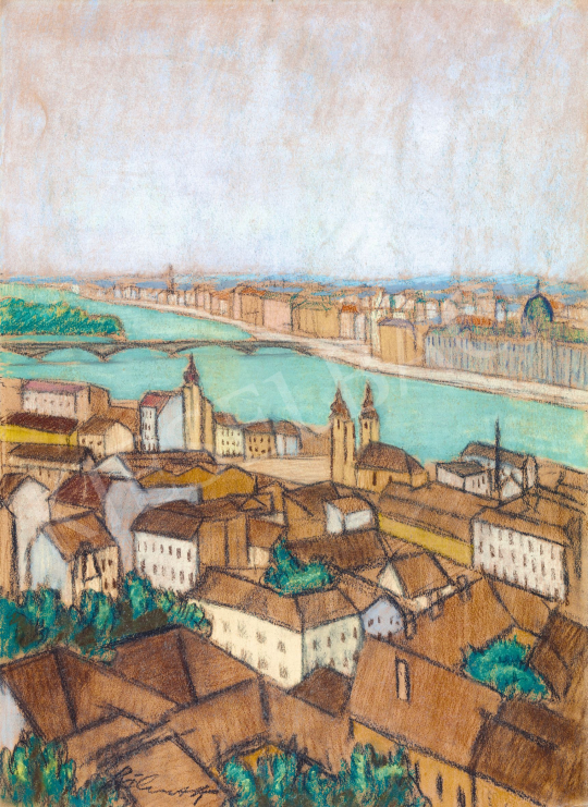 Bálint Rezső - Budapesti látkép (Kilátás a Budai Várból) | 57. Téli Aukció aukció / 39 tétel