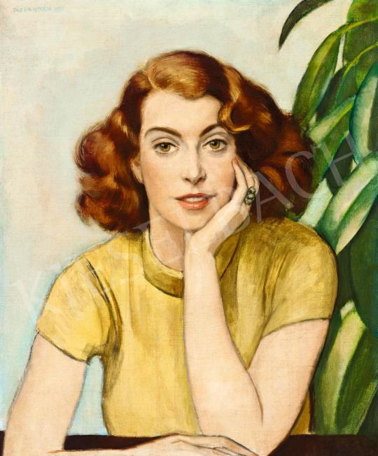 Zádor István - Fiatal lány sárga garbóban, 1935   57. Téli Aukció aukció / 40 tétel