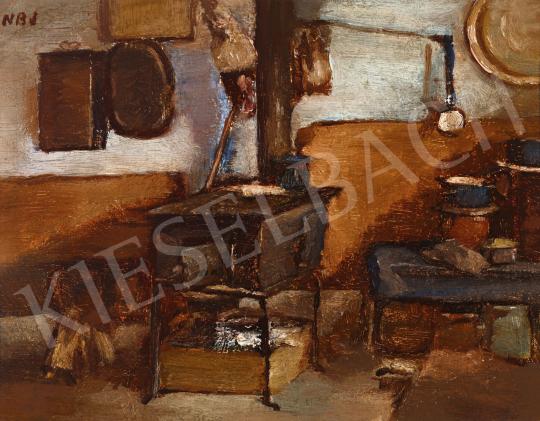 Nagy Balogh János - Konyharészlet, 1910 körül (hátoldalon: Tájrészlet alakkal) | 57. Téli Aukció aukció / 41 tétel