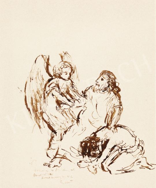 Berény Róbert - Ábrahám áldozata, 1940-es évek | 57. Téli Aukció aukció / 47 tétel