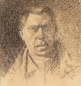 Nagy Balogh János - Önarckép, 1912