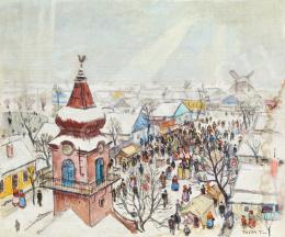 Pólya Tibor - Szolnoki vásár télen