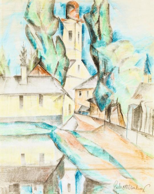 Perlrott Csaba Vilmos - Nagybánya, 1920-as évek | 57. Téli Aukció aukció / 76 tétel