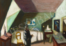 Duray Tibor - Párizsi manzárdszoba (A festő műterme)