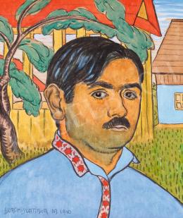 Boromisza Tibor - Fiatalkori önarckép Nagybányán, 1910