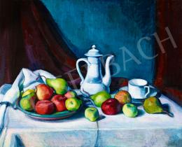 Kmetty, János - Still Life with White Jar and Fruits, c. 1915
