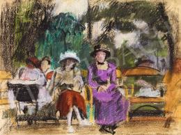 Farkas István - Párizsi parkban (A lila ruha), 1929-30