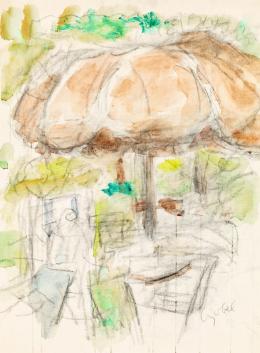 Czóbel Béla - Szentendrei kertben