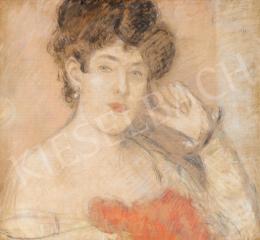 Rippl-Rónai József - A kék szemű modell, 1912