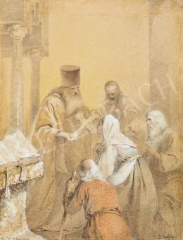 Zichy Mihály - Orosz zarándokok a görögkeleti templomban (Pópa)
