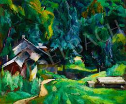 Aba-Novák, Vilmos - Zugliget Detail ('I live here'), 1926