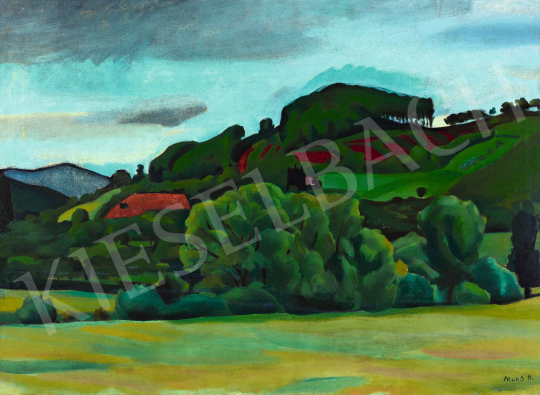 Mund Hugó - Zöldellő táj, 1916 körül | 57. Téli Aukció aukció / 154 tétel