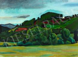 Mund Hugó - Zöldellő táj, 1916 körül