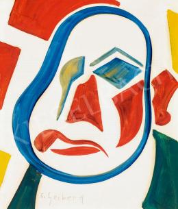 Scheiber Hugó - Absztrakt önarckép (Önarckép négy színnel), 1928 körül