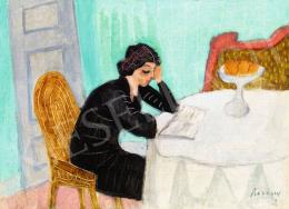 Berény Róbert - Eta olvas, 1928 körül