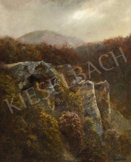 Mednyánszky László - Zugligeti ősz (Budai hegyek sziklákkal)