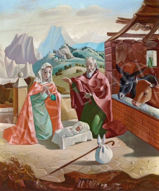 Molnár C. Pál - Szent Család, 1940 körül | 57. Téli Aukció aukció / 175 tétel