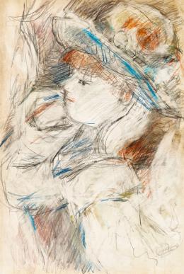 Czóbel Béla - Párizsi páholyban (Hommage á Renoir)