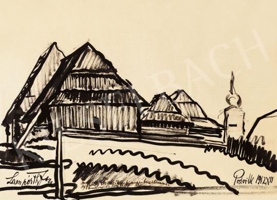 Nemes Lampérth József - Faházak Podvilkban (Galícia), 1912 | 57. Téli Aukció aukció / 184 tétel