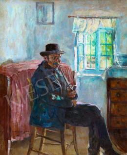 Perlmutter Izsák - Napfényes ablak előtt, 1897
